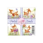Wild Rose Studio Ltd. 10cm x 10cm Printed Panels 12/Sheets-Bluebell