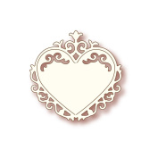 Wild Rose Studio Specialty Die 7cm x 7cm -Ornate Heart