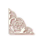 Wild Rose Studio Speciatly Die 6.4cm x 6.4cm -Rose Corner