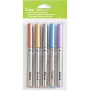 Cricut Explore Medium Point Pen Set 5/Pkg-Metallic