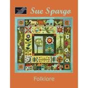Sue Spargo Books-Folklore Wall Quilt 120cm x 120cm