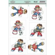 KennyK Topper Sheet 21cm x 31cm -Football Rocks