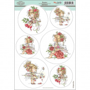 Wee Stamps Topper Sheet 21cm x 31cm -Rosetta
