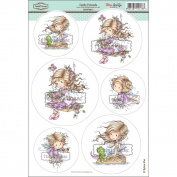 Wee Stamps Topper Sheet 21cm x 31cm -Little Friends