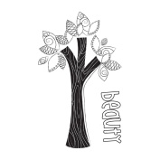Itty Bitty Unmounted Rubber Stamp 5.1cm x 7.6cm -Beauty Tree