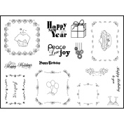 Stamping Scrapping Spellbinders Matching Clear Stamps-Celebrate