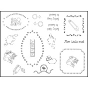 Stamping Scrapping Spellbinders Matching Clear Stamps-New Little One