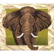 Latch Hook Kit 110cm x 100cm -Elephant Portrait