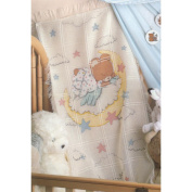 Sleeping Teddy Bear Baby Afghan Counted Cross Stitch Kit-70cm x 110cm 18 Count