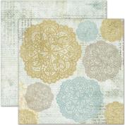 Butterfly Garden Double-Sided Paper 30cm x 30cm -Dew Drops