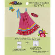 Fabric Editions Design Sheet/Project Card-Girls Sundress And Head Band