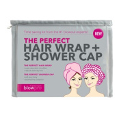 BlowPro The Perfect Hair Wrap and Shower Cap Combo