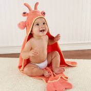 Baby Aspen Baby Lobster Hooded Terry Cloth Towel