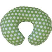 Boppy Printed Plush Slipcover in Green Dot