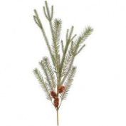 80cm  Glacier and Skyland Artificial Pine with Cone Christmas Spray