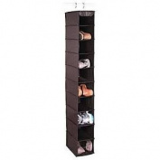 Richards Homewares Expressive Closet Storage 10 Shelf Shoe Organiser; Black