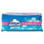 White Cloud Flushable Wipes with Aloe & Vitamin E