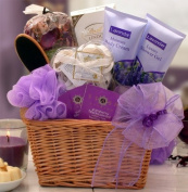 Soothing and Relaxing Lavender Spa Gift Basket - Makes a Perfect Mothers Day Gift