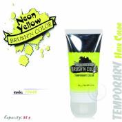 N'Rage Colorageous Brush'N Colour Temporary Hair Colour, Neon Yellow, 30ml