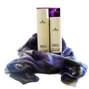 Schwarzkopf BC Smooth Shine Shampoo 250ml and Conditioner 200ml with FREE SCARF