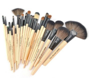 Smile Professional 24 Pcs Cosmetics Makeup Brushes Tool Make up Brushes Set Light yellow colour