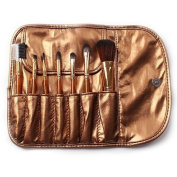 Smile 7PCS gold colour kabuki makeup brushes set professional nylon hair