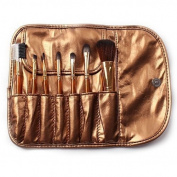 Smile 7PCS gold colour kabuki makeup brushes set professional nylon hair