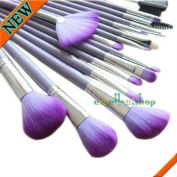 Smile 16 Pcs Makeup Maku Up Brush Brushes Cosmetic Set with Pouch Purple