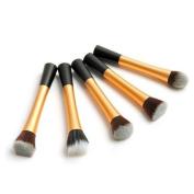 Smile 5pcs/lot Pro Powder Blush Brush Cosmetic Stipple Foundation Pink Brush Makeup Tool
