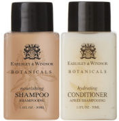 Earlsley & Windsor Botanicals Shampoo & Conditioner Lot of 18 (9 of each) 35ml bottles.
