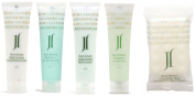 June Jacobs Blue Ginger Travel Set Shampoo, Conditioner, Lotion, Body Gel, Soap