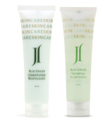 June Jacobs Blue Ginger Shampoo & Conditioner Lot of 18 (9 of each) 30ml bottles. Total of 530ml