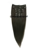 Darkest Brown 43cm 46cm 70 Grammes 7 Pieces Edgy Remy Clip in Hair Extensions