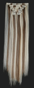 Onedor 60cm Straight Full Head Clip in Japanese Synthetic Hair Extensions 7pcs