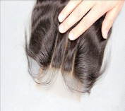 3 way part 4*4 Lace Front Top Closure Brazilian Virgin Remy Hair Body Wave natural colour Can Be Dyed