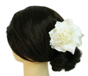 Silk Rose Flower Hair Claw Bridal Wedding