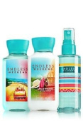 BATH AND BODY WORKS,GIFT SET..ENDLESS WEEKEND..90ml. !!