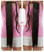 "Onedor 24""/60cm Straight Wrap Around Clip in Ponytail Extension for Woman Japanese Synthetic Hair 120g-130g"