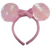 Pink Sequin Ear Hairband