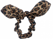 Leopard Bow Scrunchie.