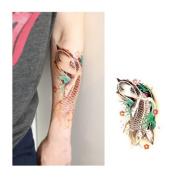koi fish tattoo, Temporary Tattoo, Body Tattoo, Tattoo Sticker
