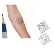 Geometric, Temporary Tattoo, Body Tattoo, Tattoo Sticker