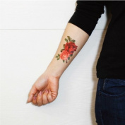 Floral Tattoo, Temporary Tattoo, Body Tattoo, Tattoo Sticker