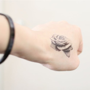 Rose Tattoo, Temporary Tattoo, Body Tattoo, Tattoo Sticker