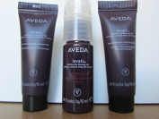 AVEDA Invati Exfoliating Shampoo, Thickening Conditioner, and Scalp Revitalizer Set (Trio); 10ml Each; Sample Size
