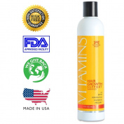 VITAMINS Hair Loss Shampoo - Proven 121% Hair Growth in Clinical Trials - Natural Biotin, Coconut Oil, Patented Procapil - Guaranteed