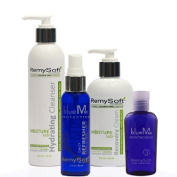 RemySoft Moisturelab Deluxe System - Safe for Hair Extensions, Weaves and Wigs ***FREE TRAVEL SET*** Salon Formula Shampoo, Conditioner & Serum - Gentle Sulphate-free Lather