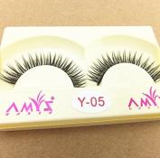 Smile High Quality Natural Long Cotton Stalk Fake Black False Eyelashe