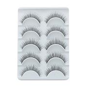 Smile Charming Black False Eyelashes Designer Makeup Human Hair Eyelash