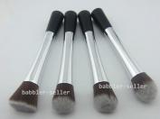 Smile 4pcs Makeup Brushes Set Silver aluminium handle